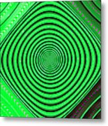 Focus On Green Metal Print