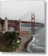 Fog At The San Francisco Golden Gate Bridge - 5d18868 Metal Print by Wingsdomain Art and Photography
