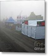 Fog On The Midway Metal Print