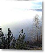 Fog On Wood Lake Metal Print