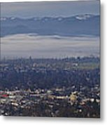 Fog Over A Grants Pass Morning Metal Print