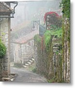Foggy Lane In St Cirq Metal Print