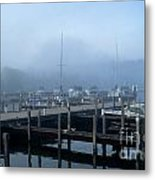 Foggy Morning In Door County Metal Print