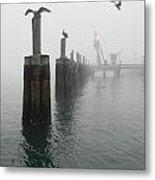 Foggy Pier Metal Print