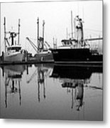 Foggy Reflections Bw Metal Print by Kami McKeon