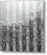 Foggy Silver Mountain Range Metal Print
