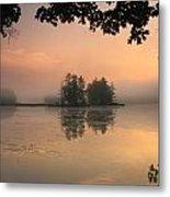 Foggy Summer Sunrise At Harvard Pond Metal Print