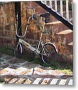 Folding Bicycle Antigua Metal Print