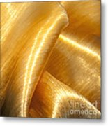 Folding Gold Metal Print by Artist and Photographer Laura Wrede