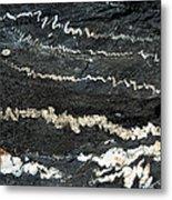 Folds Of Calcite In Limestone Rock Metal Print