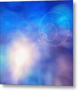 Folds Of Color Abstract - Up In The Sky Metal Print