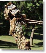 Foliated Victory Among The Trees Metal Print