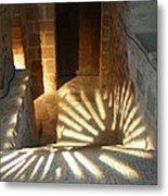 Follow The Light-stairs Metal Print