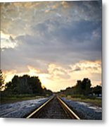 Follow The Tracks Metal Print
