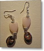 Follow Your Heart Sweet Pink Earrings Metal Print