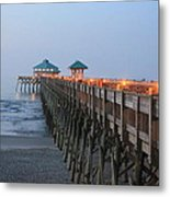 Folly Pier Metal Print
