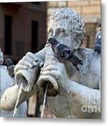 Fontana Del Moro In Piazza Navona. Rome Metal Print by Bernard Jaubert