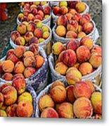 Food - Harvested Peaches Metal Print