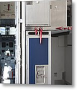 Food Compartment On An Airplane Metal Print by Jaak Nilson