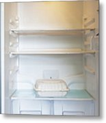 Food Container In A Refrigerator Metal Print by Inti St. Clair