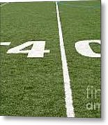 Football Field Forty Metal Print
