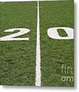 Football Field Twenty Metal Print