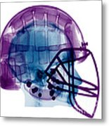 Football Helmet X-ray Metal Print