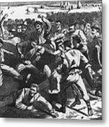 Football: Soldiers, 1865 Metal Print