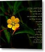 For I Am Sure Metal Print