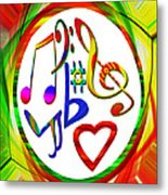 For The Love Of Music Metal Print