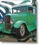 Ford Abstract Metal Print
