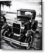 Ford Model T Film Noir Metal Print