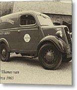 Ford Thames Van Aged Metal Print