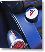Ford V8 Taillight And Gas Cap Metal Print