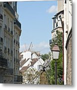 Foreshortening Of Paris With Windmill Sails Metal Print