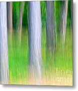 Forest Abstract Metal Print by Odon Czintos