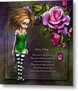 Forest Fairy Jn The Rose Garden Metal Print