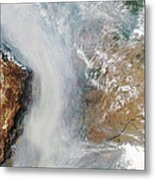 Forest Fires In South America Metal Print