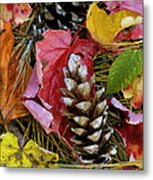 Forest Floor Portrait Metal Print