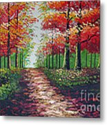 Forest Path - Detail Metal Print by Kostas Dendrinos