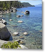 Forested Shores Of Lake Tahoe Metal Print