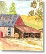 Forgotten Barn Postcard Metal Print