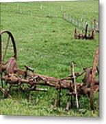 Forgotten Farm Equipment Metal Print