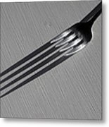Fork Shadow Metal Print
