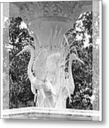 Forsyth Fountain - Black And White 4 Metal Print
