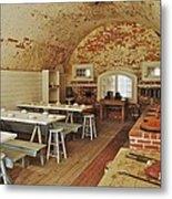 Fort Macon Mess Hall_9078_3765 Metal Print