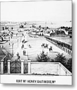 Fort Mchenry, 1862 Metal Print