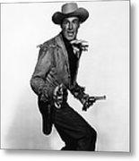 Fort Worth, Randolph Scott, 1951 Metal Print