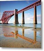Forth Rail Bridge Metal Print by Stu Meech