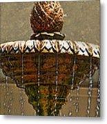 Fountain Art I Metal Print